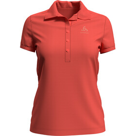 Odlo Concord Polo Manches courtes Femme, hot coral